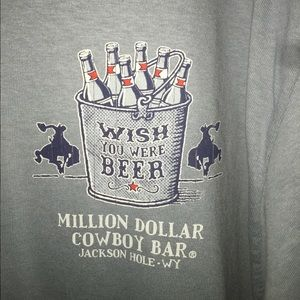 NWOT WISH YOU WERE BEER MILLION COWBOY BAR Size LG